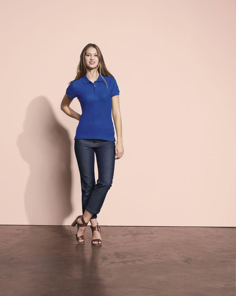 Рубашка поло женская People 210, шоколадно-коричневая - 1