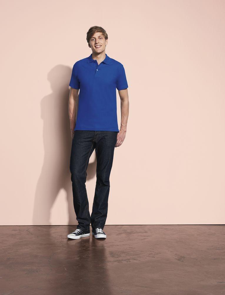 Рубашка поло мужская Spring 210, темно-серая - 4
