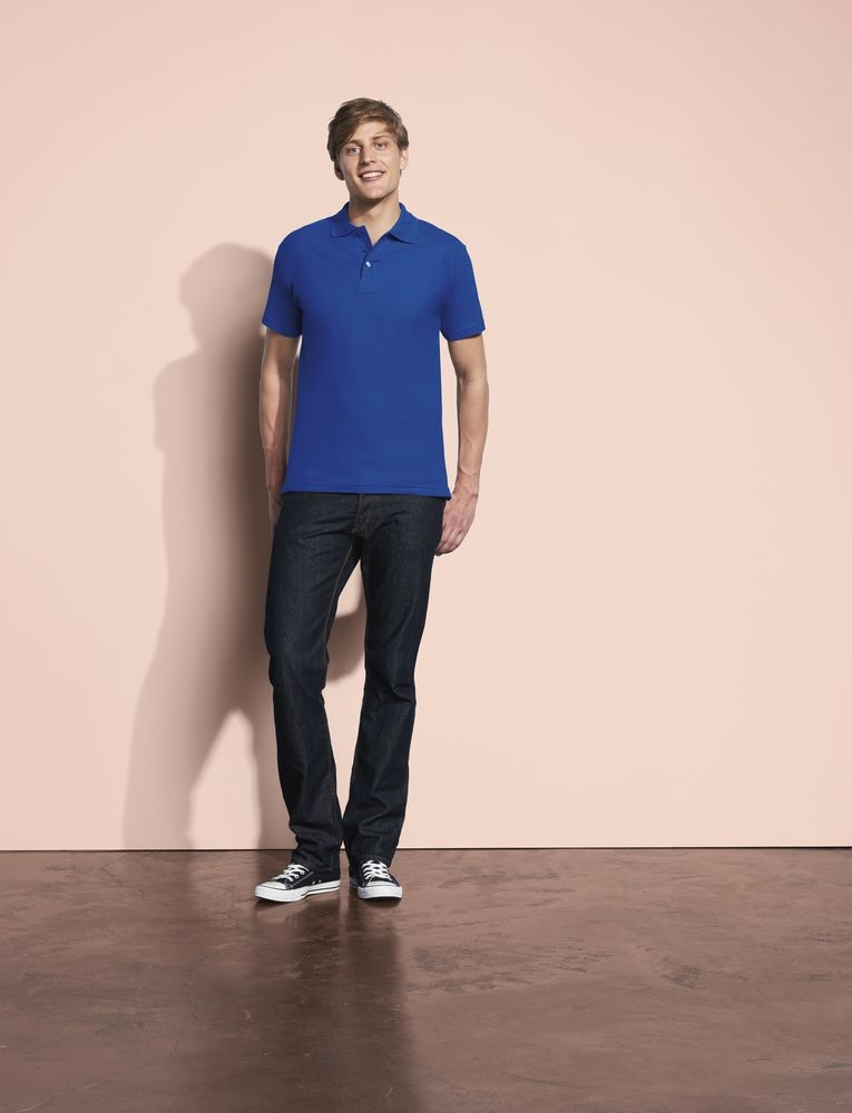 Рубашка поло мужская Spring 210, розовая - 4