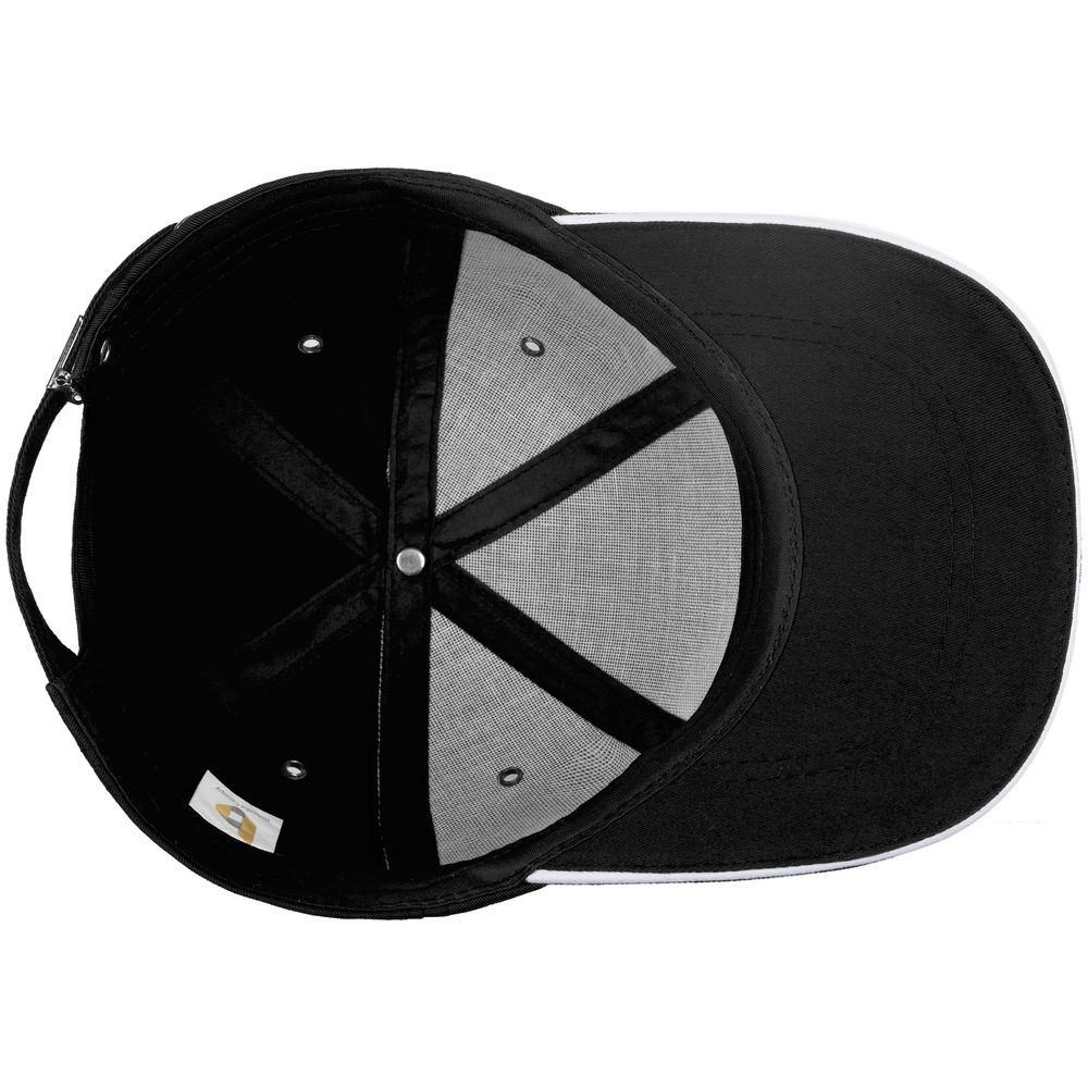 Бейсболка Bizbolka Canopy, черная с белым кантом - 5