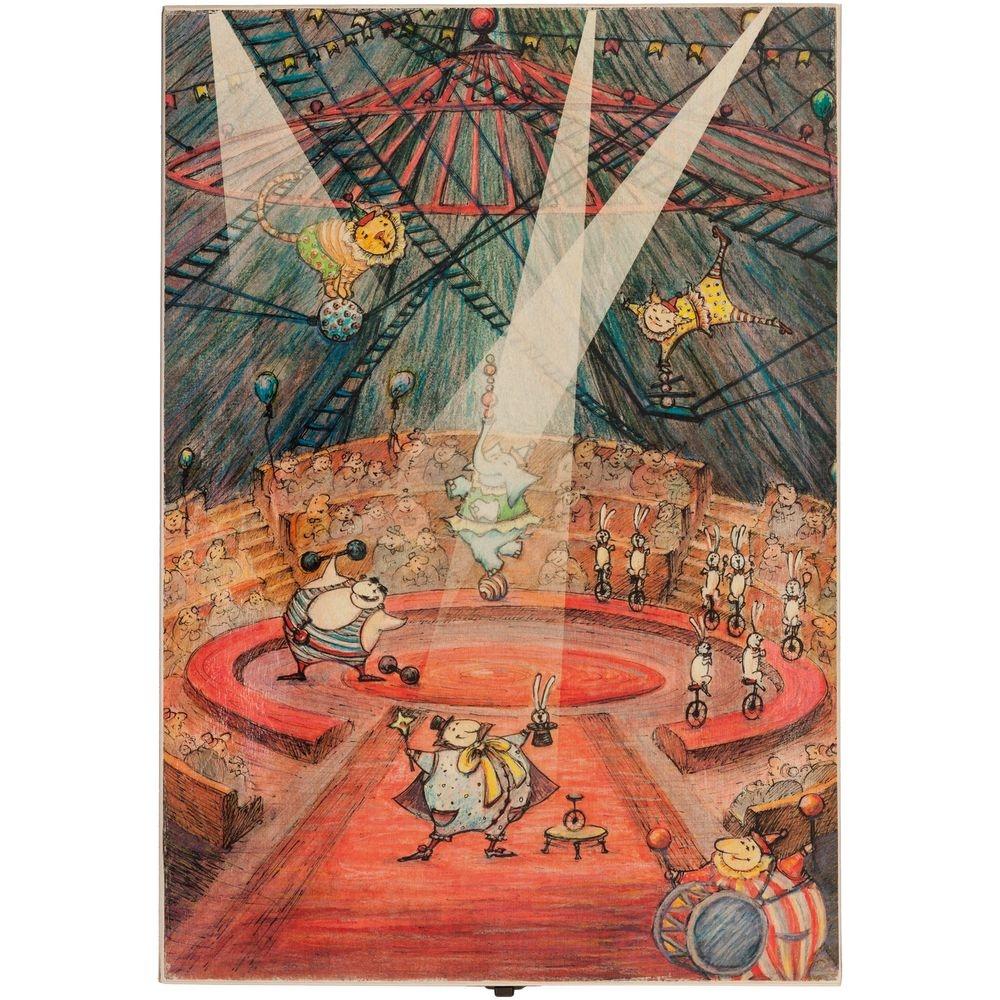 Набор из 3 елочных игрушек Circus Collection: фокусник, силач и лев - 1