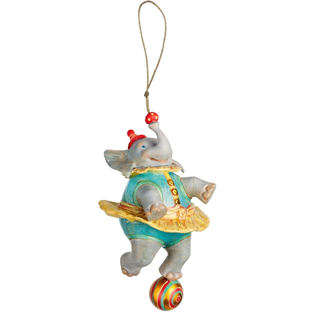 Набор из 3 елочных игрушек Circus Collection: барабанщик, акробат и слон - 7