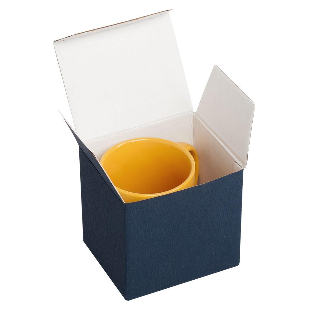 Коробка для кружки, синяя, 11х9,3х10,5 см - 1