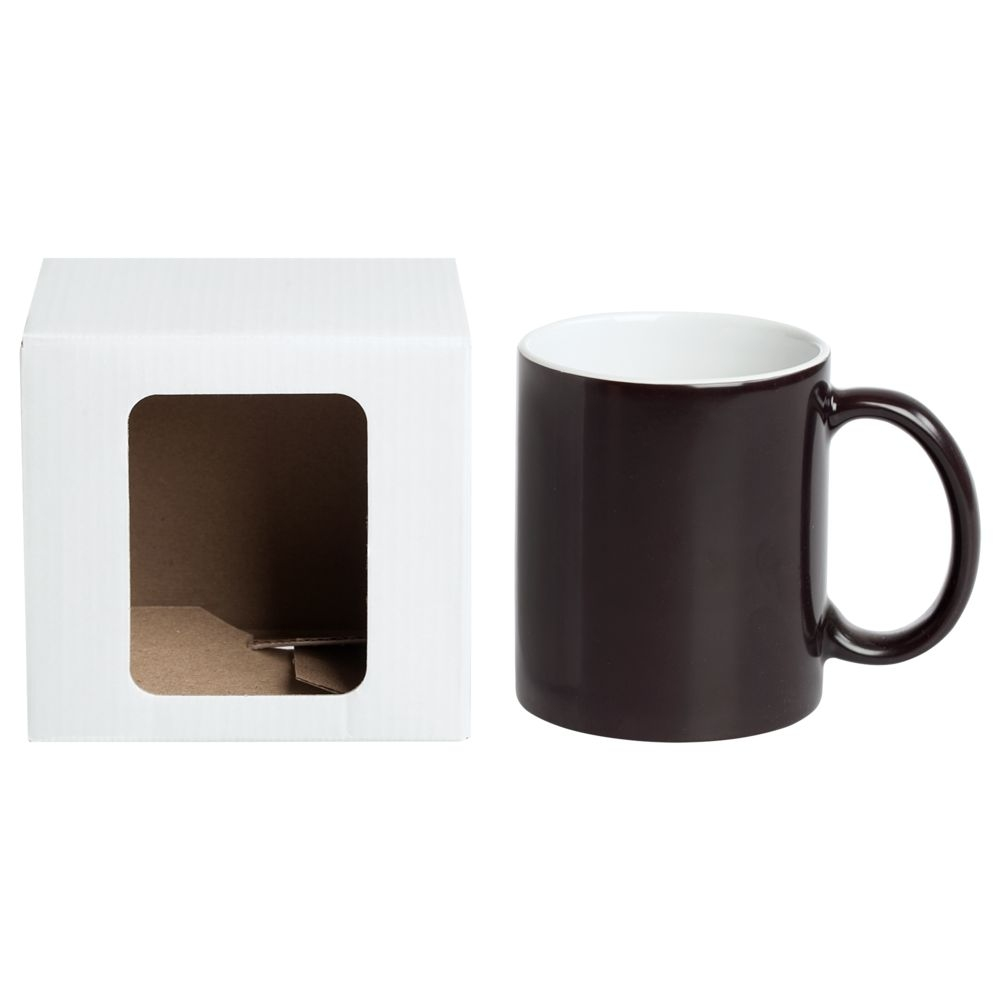 Коробка для кружки Window, белая, 11,2х9,4х10,7 см - 1