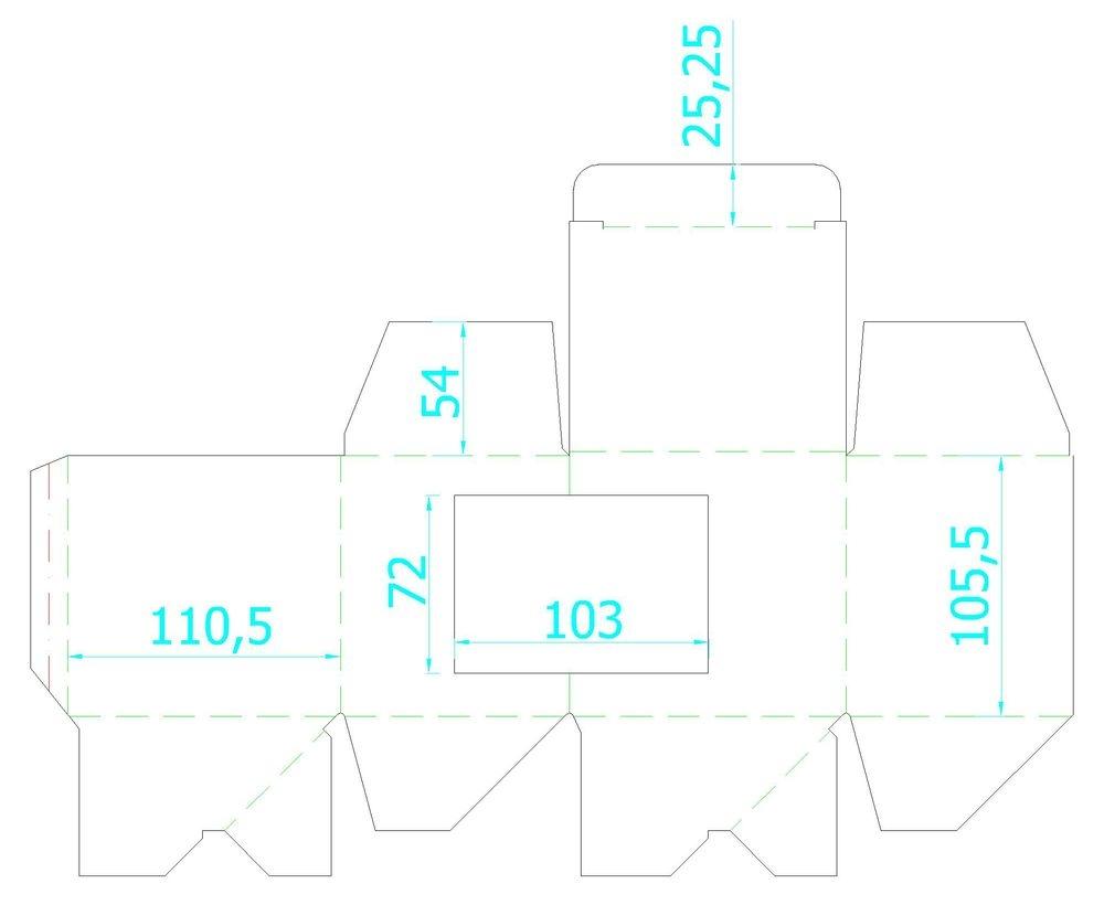 Коробка для кружки с окошком, крафт, 11,2х9,4х10,7 см - 5