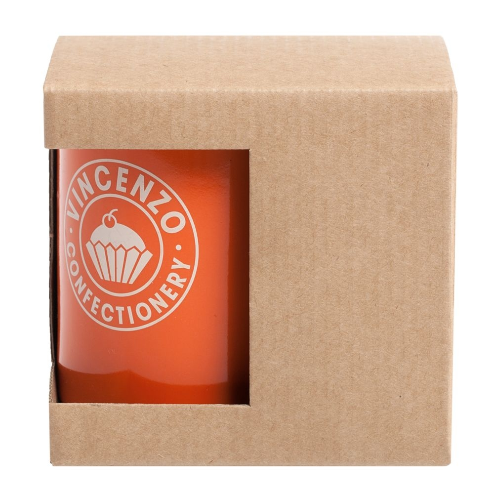 Коробка для кружки с окошком, крафт, 11,2х9,4х10,7 см - 1