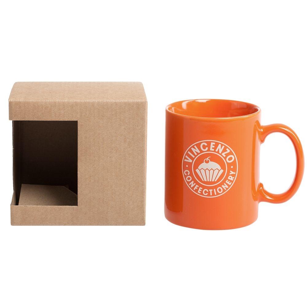 Коробка для кружки с окошком, крафт, 11,2х9,4х10,7 см - 3