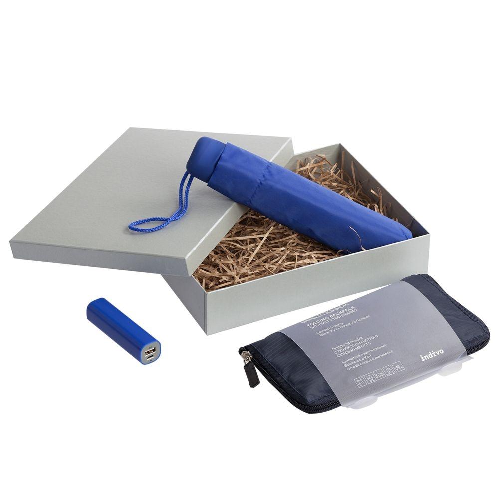 Подарочная коробка Giftbox, серебристая, 25,5х20х5,5 см, переплетный картон - 1