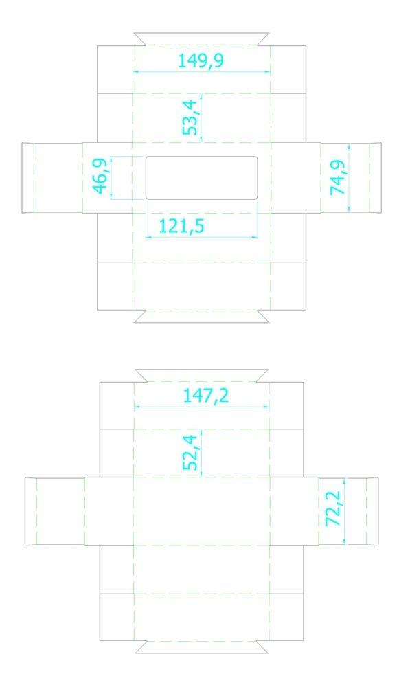 Коробка Vindu, малая, крафт, самосборная, 15х7,8х5,5 см, ПВХ - 4