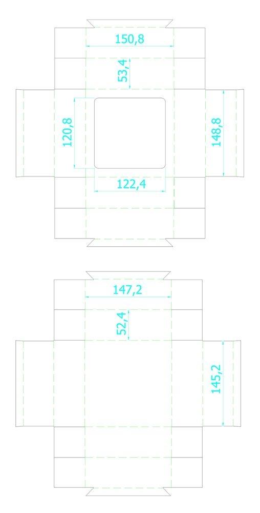 Коробка Vindu, большая крафт, самосборная, 15х15х5,5 см, ПВХ - 7