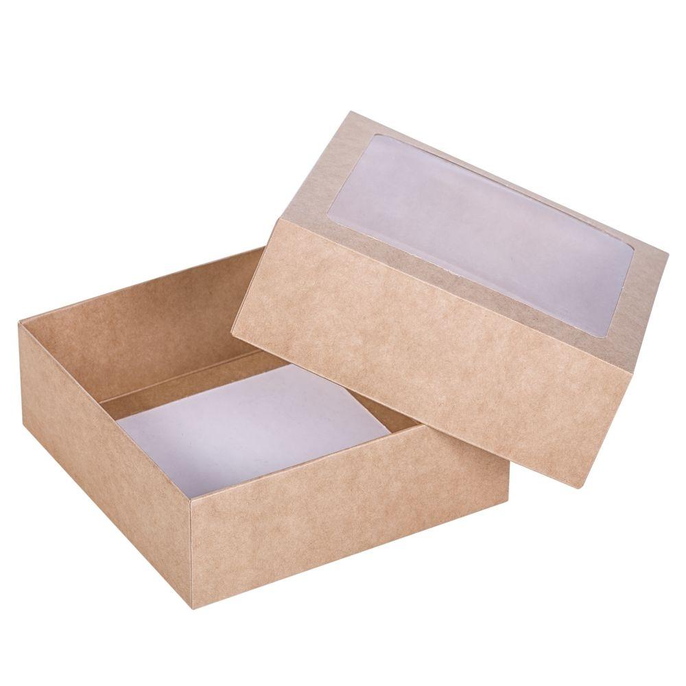 Коробка Vindu, большая крафт, самосборная, 15х15х5,5 см, ПВХ - 1