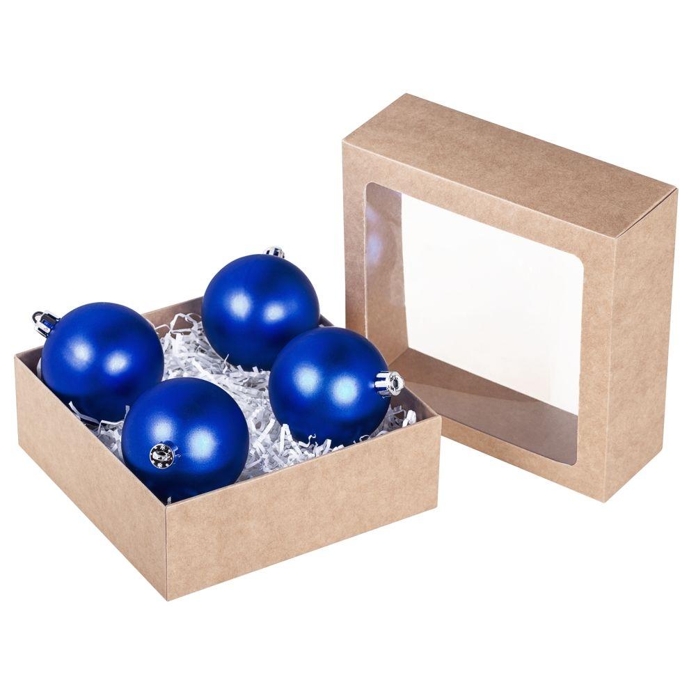 Коробка Vindu, большая крафт, самосборная, 15х15х5,5 см, ПВХ - 3