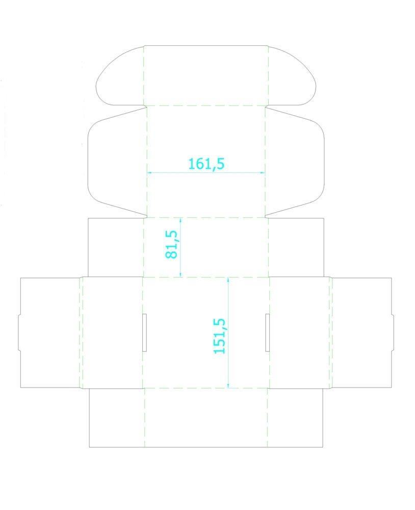 Коробка Piccolo, крафт, самосборная, 16х15х8 см, микрогофрокартон - 2