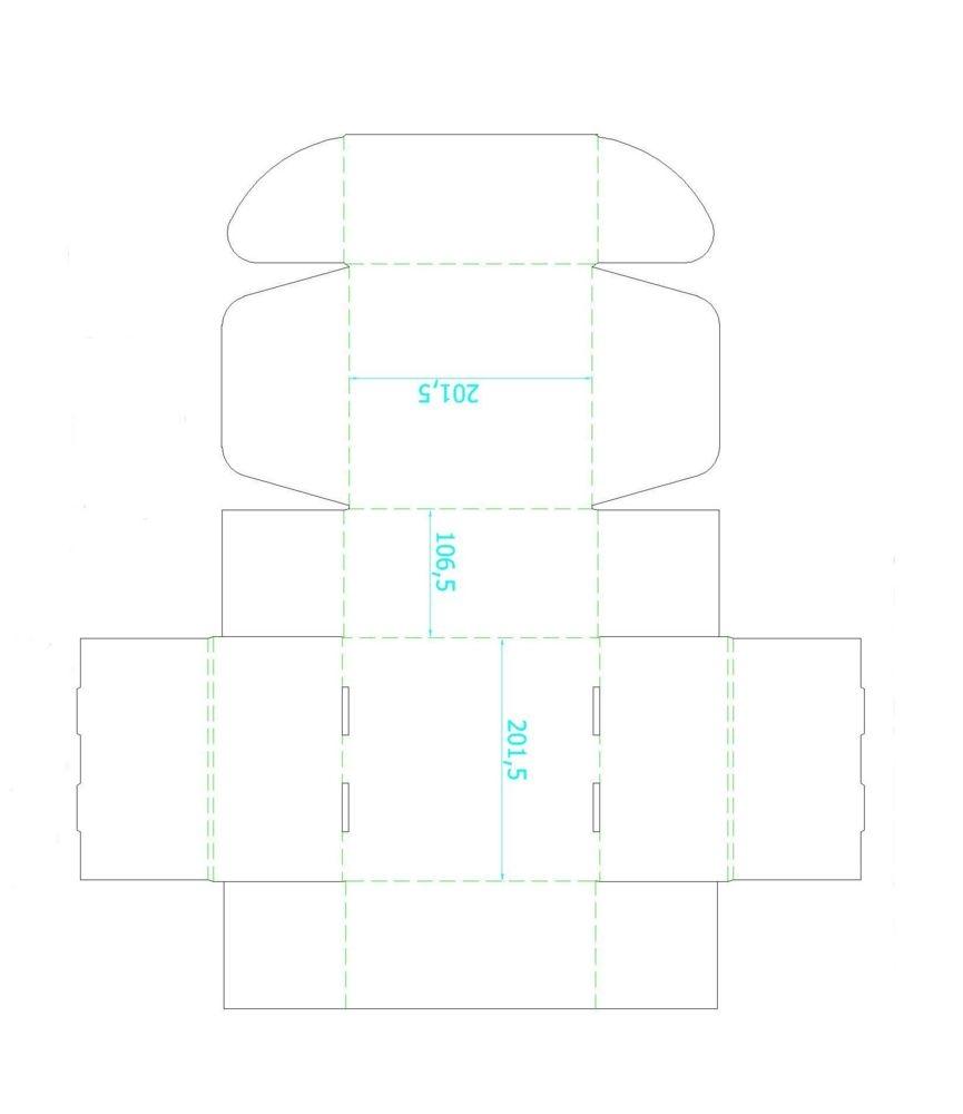 Коробка Medio, белая, самосборная, 20х20х10,5 см, микрогофрокартон - 2