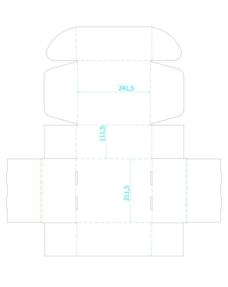 Коробка Grande, белая, самосборная, 24х21х11 см, микрогофрокартон - 2