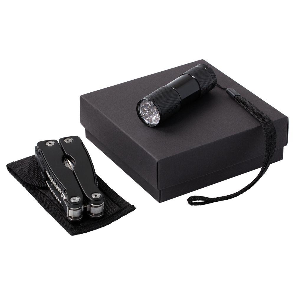 Набор Handmaster: фонарик и мультитул, черный - 3