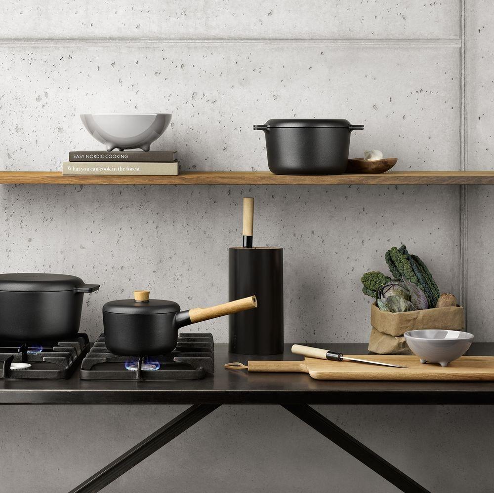 Подставка для ножей Nordic Kitchen, черная - 5