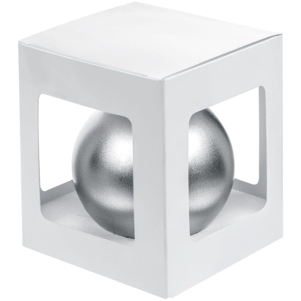 Елочный шар Gala Night Matt в коробке, серебристый, 8 см - 3