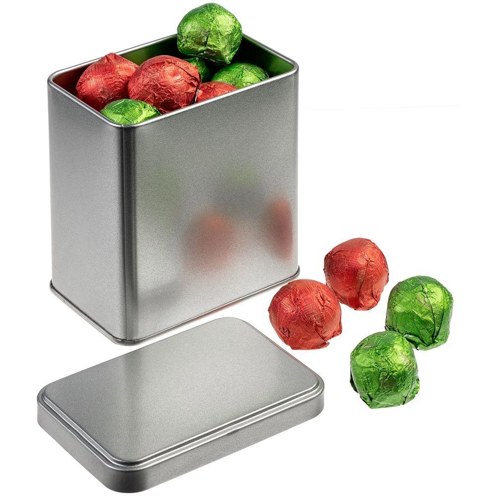 Коробка прямоугольная Jarra, серебро, 9x7x11 см, жесть - 3
