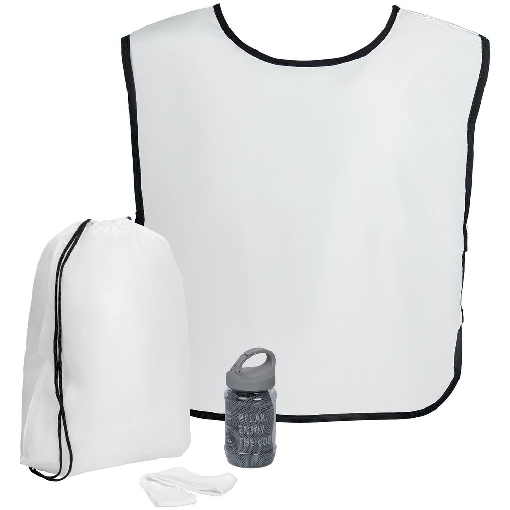 Набор для фитнеса Cool Fit, с серым полотенцем - 1