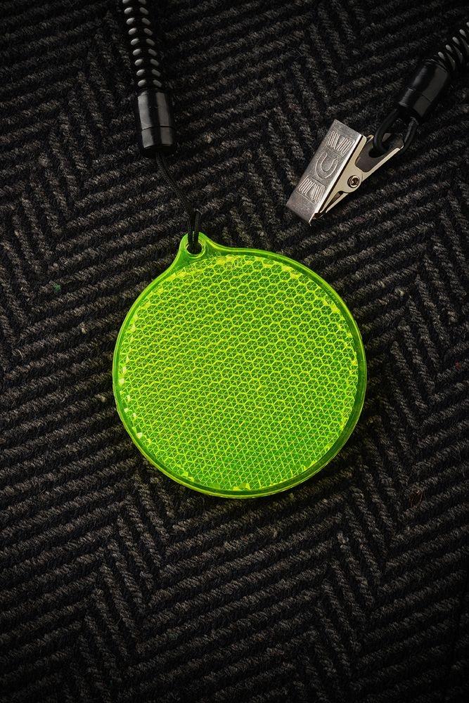 Пешеходный светоотражатель «Круг», зеленый - 4