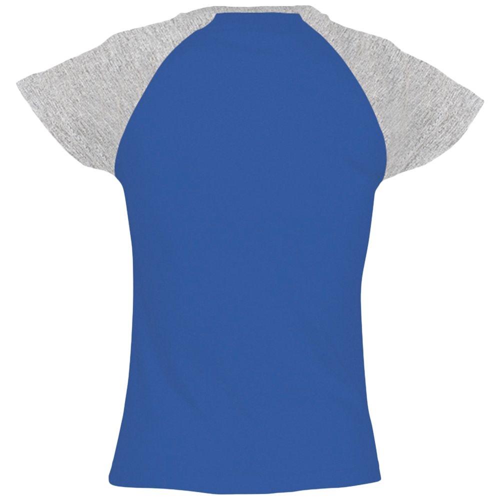 Футболка женская Milky 150, ярко-синяя с серым меланжем - 3
