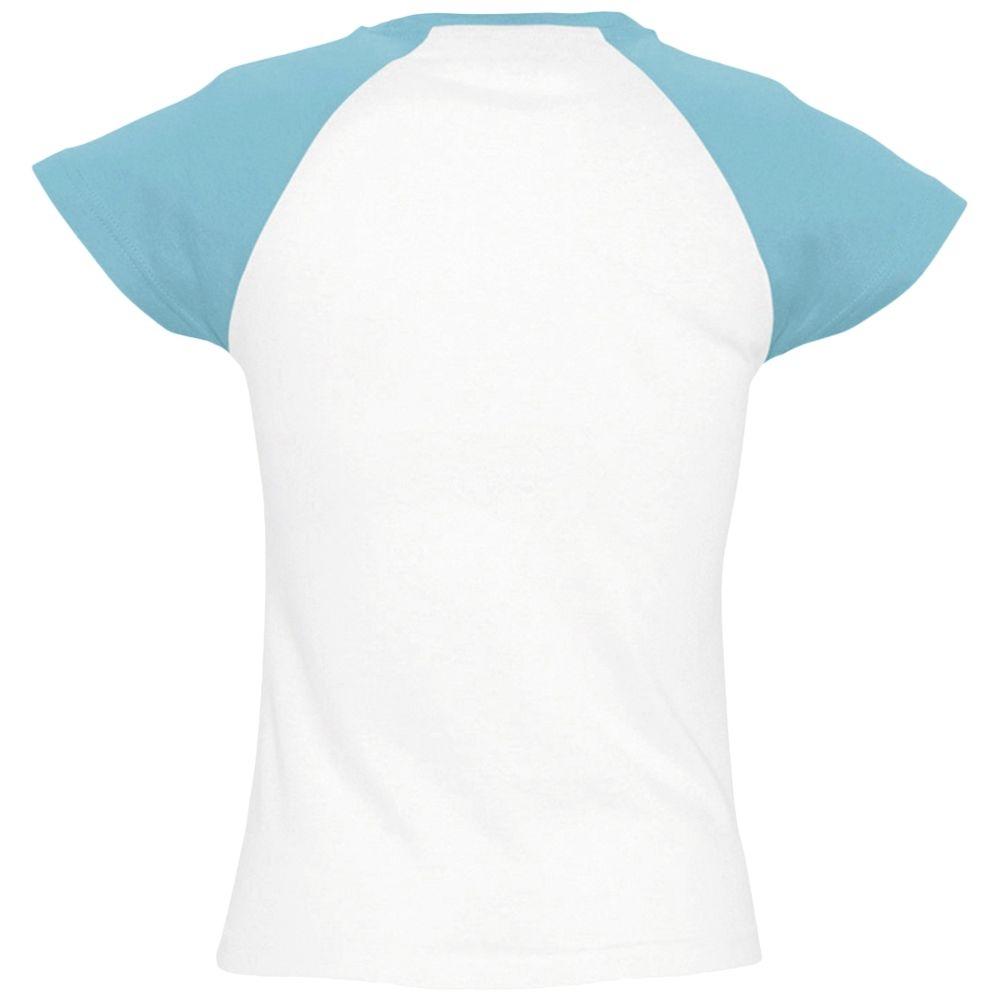 Футболка женская Milky 150, белая с голубым - 3