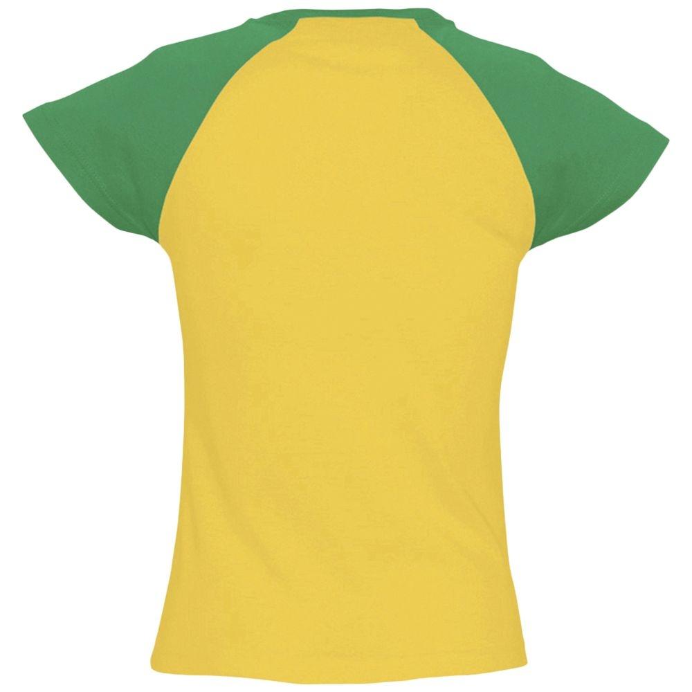 Футболка женская Milky 150, желтая с зеленым - 3