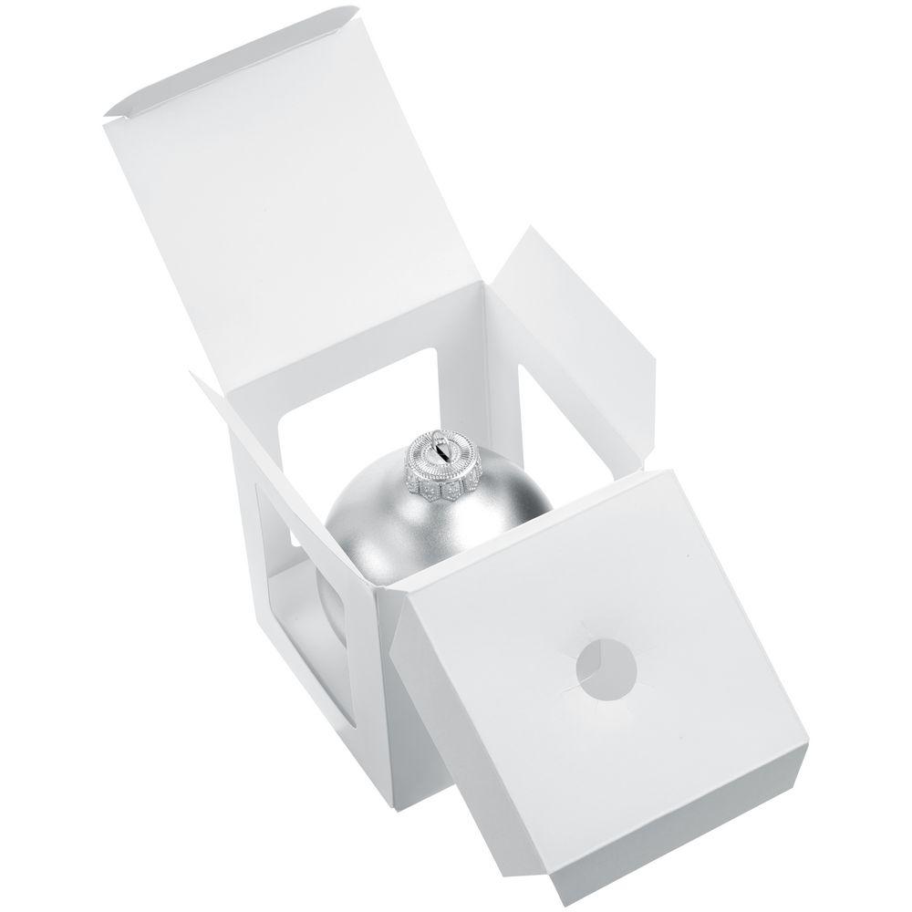 Елочный шар Gala Night Matt в коробке, серебристый, 8 см - 7