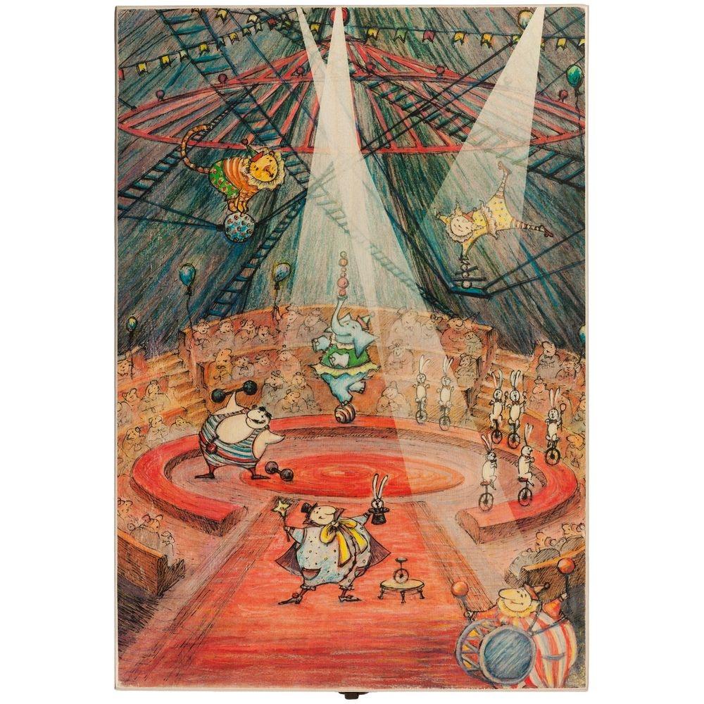 Набор из 3 елочных игрушек Circus Collection: барабанщик, акробат и слон - 1