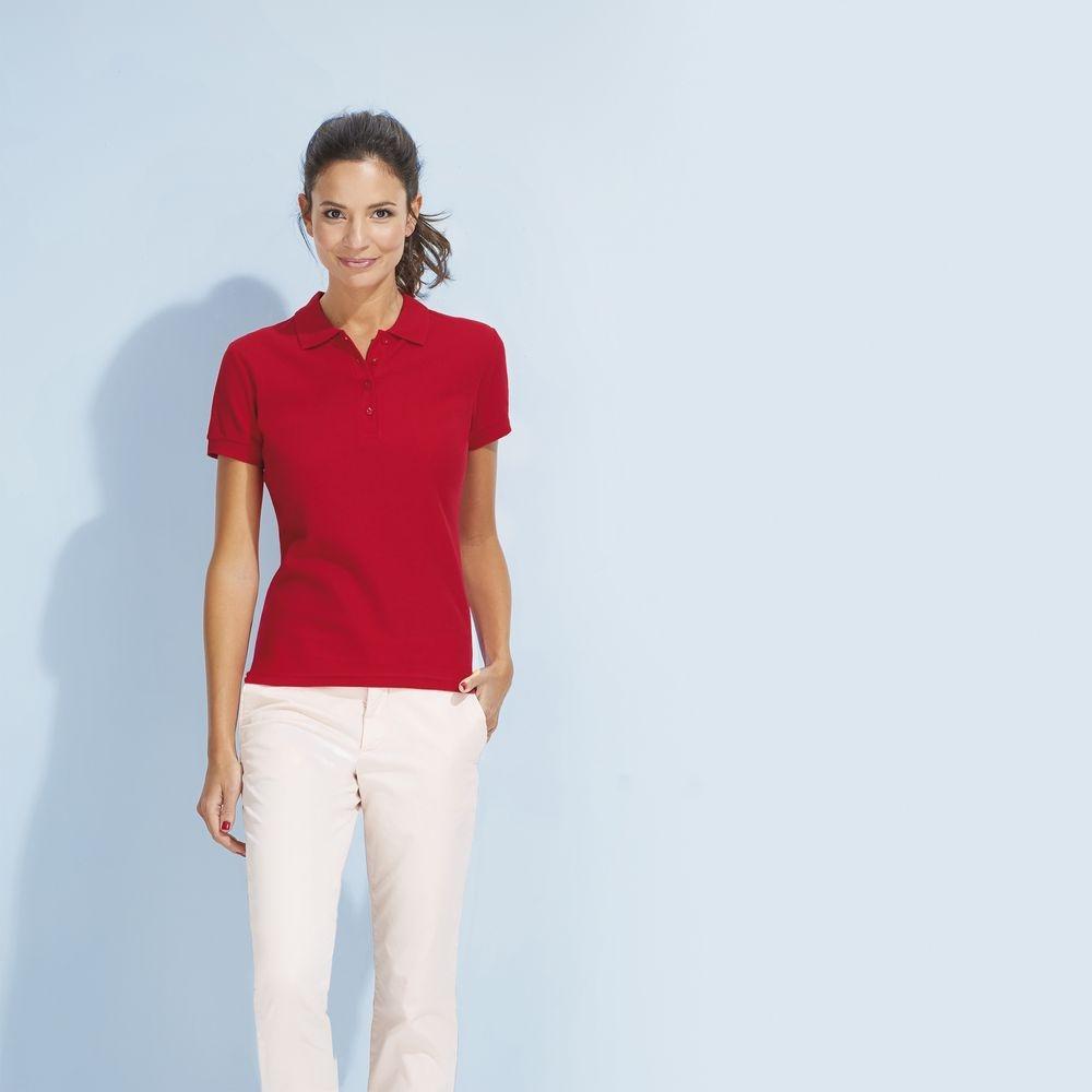 Рубашка поло женская Passion 170, бордовая - 1