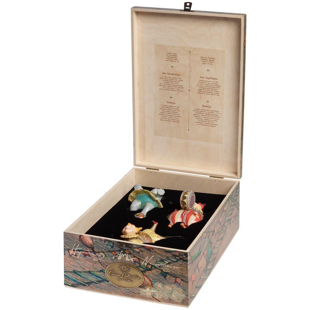 Набор из 3 елочных игрушек Circus Collection: барабанщик, акробат и слон - 8