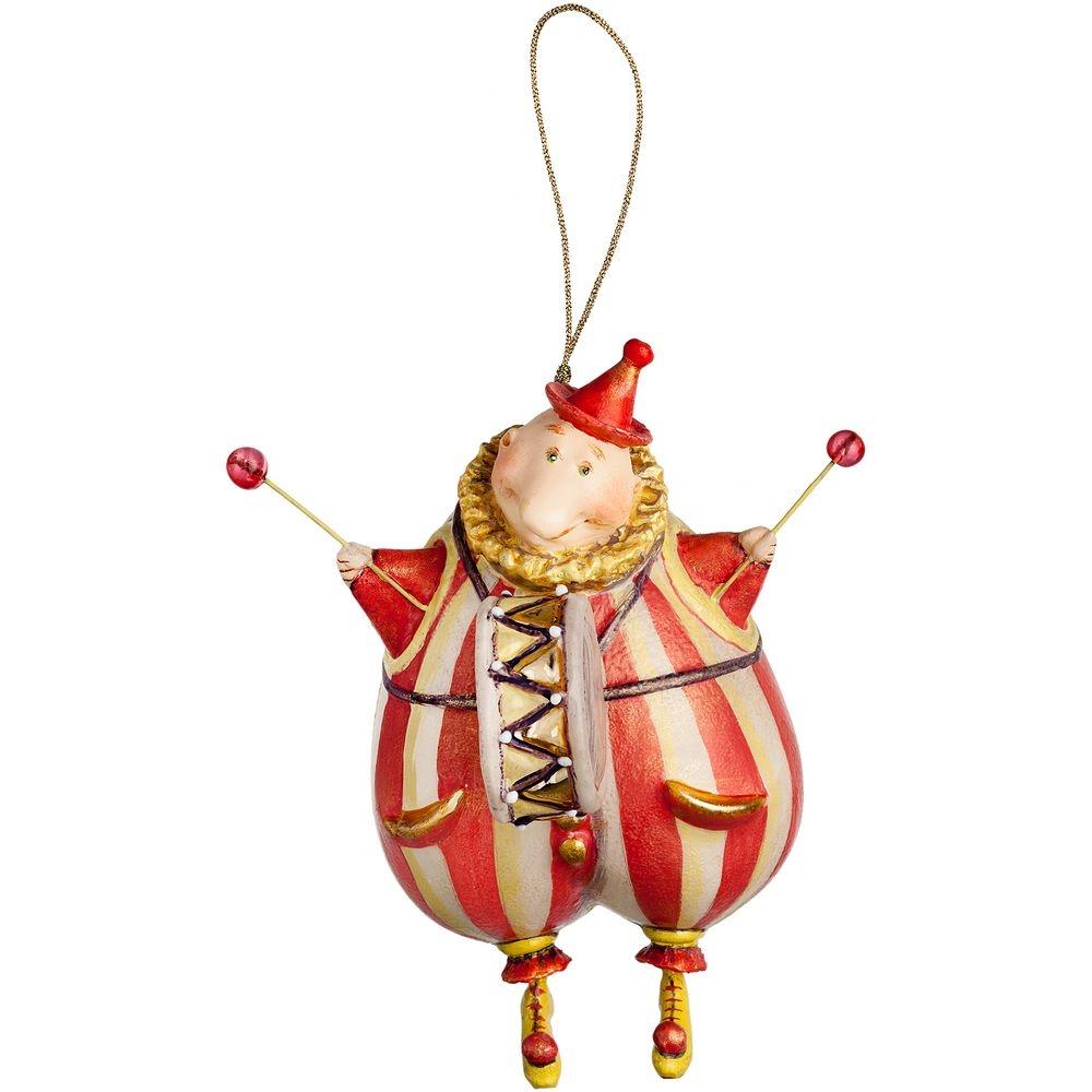 Набор из 3 елочных игрушек Circus Collection: барабанщик, акробат и слон - 3