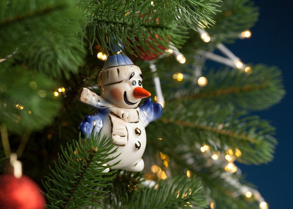 Фарфоровая елочная игрушка Olaf - 1