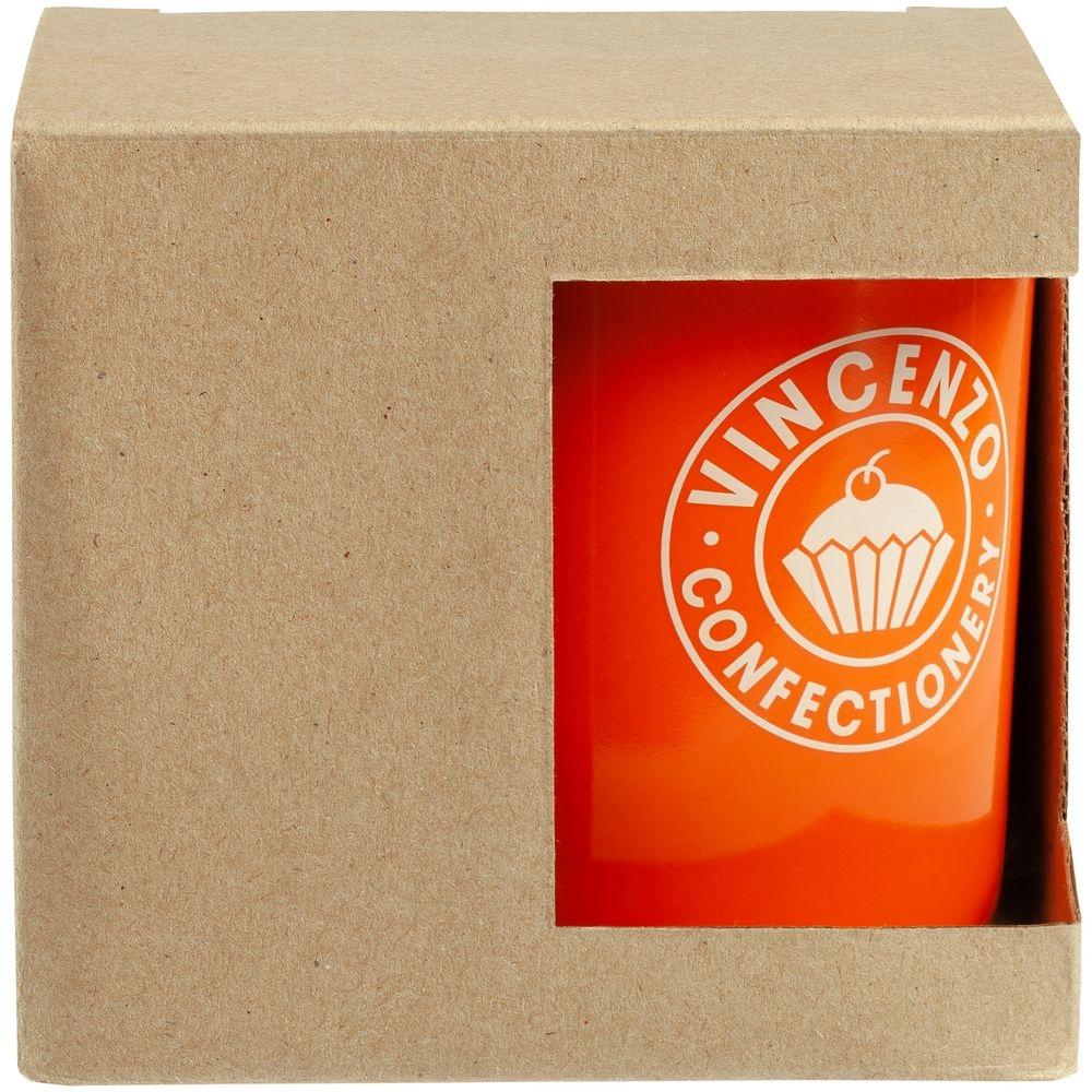 Коробка для кружки с окошком, крафт, 11,2х9,4х10,7 см - 2