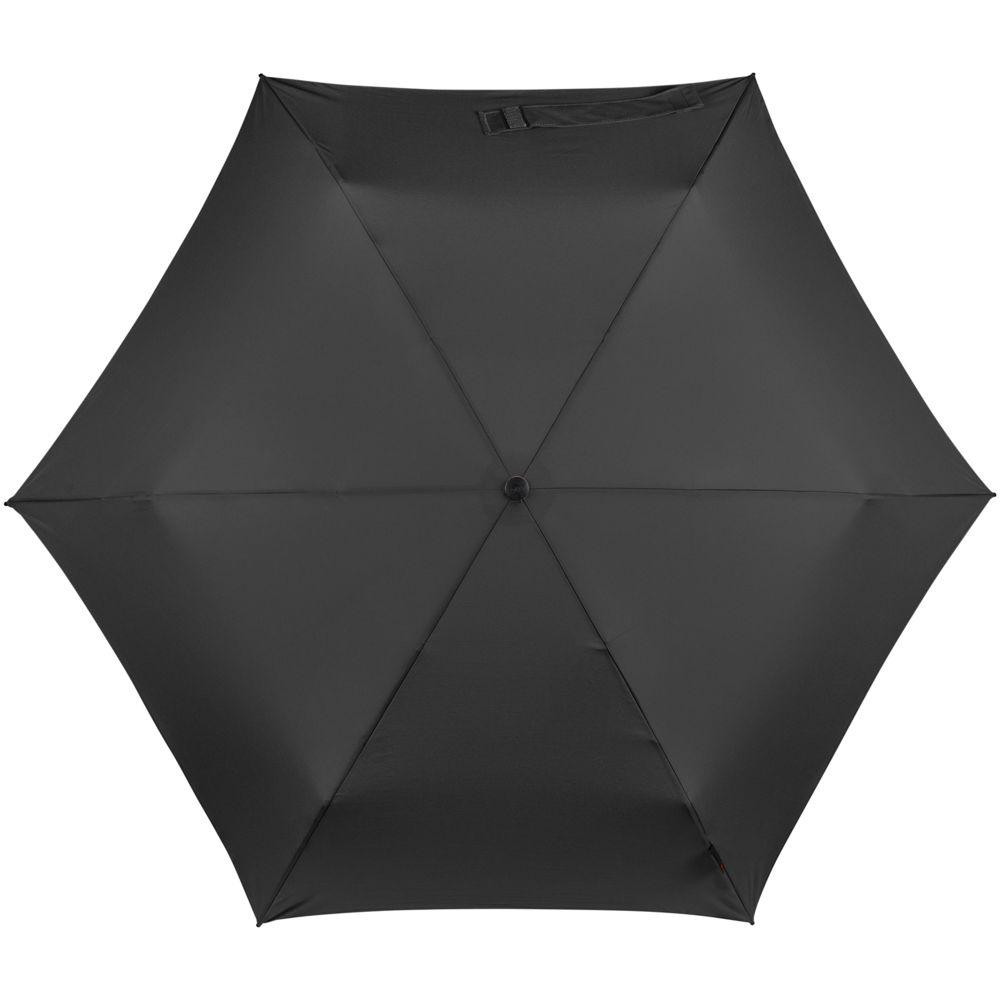 Зонт складной TS220 с безопасным механизмом, черный - 1
