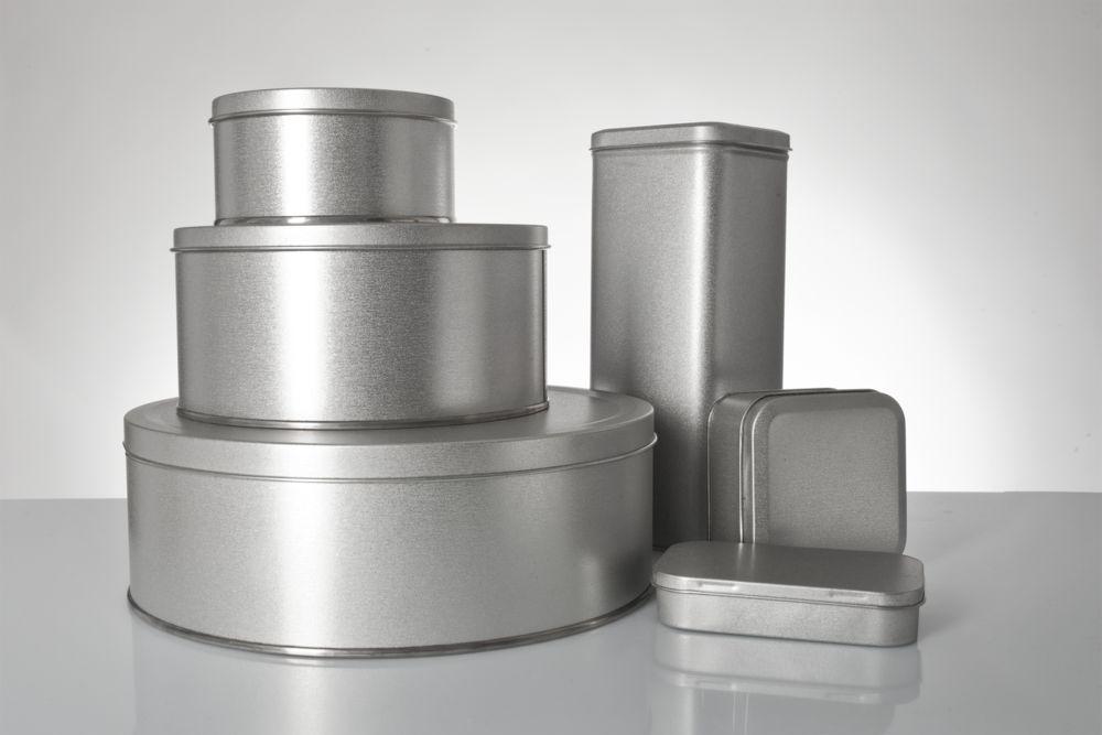 Коробка квадратная, серебристая, 7,6х7,6х4 см, жесть - 11