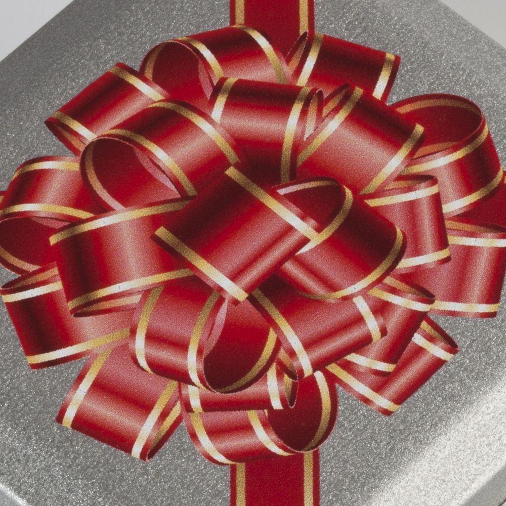 Коробка квадратная, серебристая, 7,6х7,6х4 см, жесть - 6