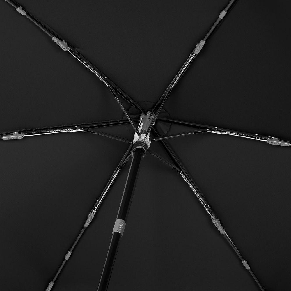 Зонт складной TS220 с безопасным механизмом, черный - 6