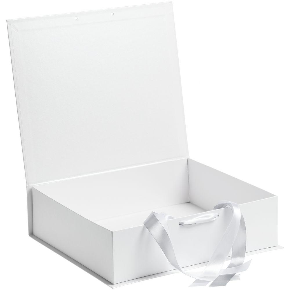 Коробка на лентах Tie Up, белая, 36,5x31,2x10,2 см, переплетный картон - 1