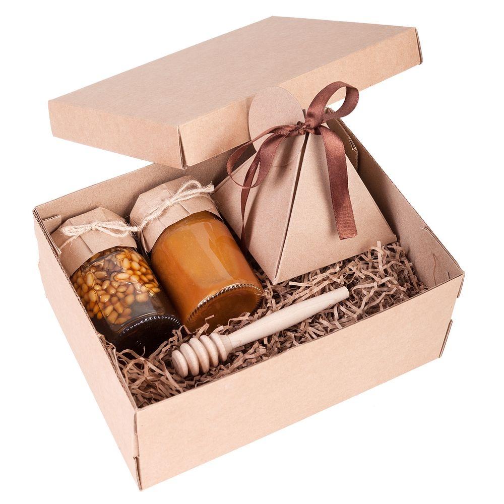 Коробка Common, S крафт, самосборная, 24х17,5х10 см, микрогофрокартон - 6