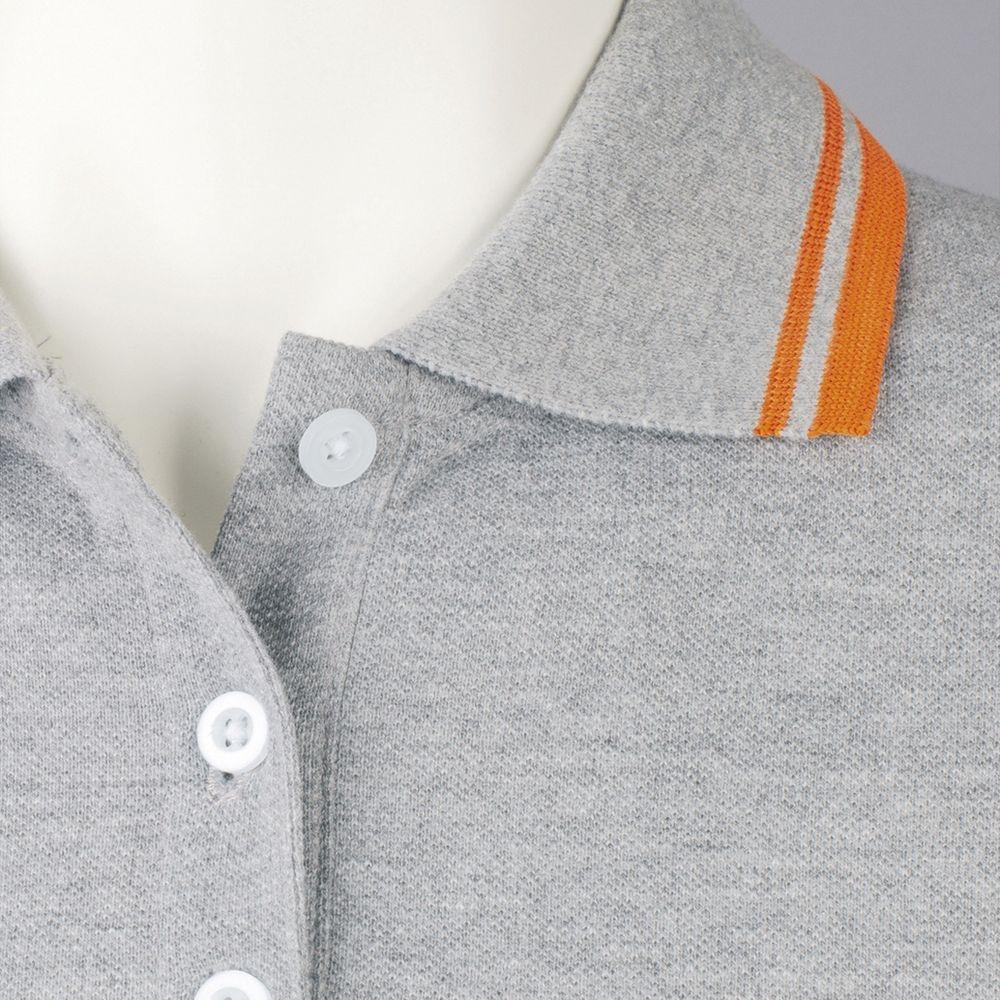 Рубашка поло женская Pasadena Women 200 с контрастной отделкой, ярко-синяя с белым - 3