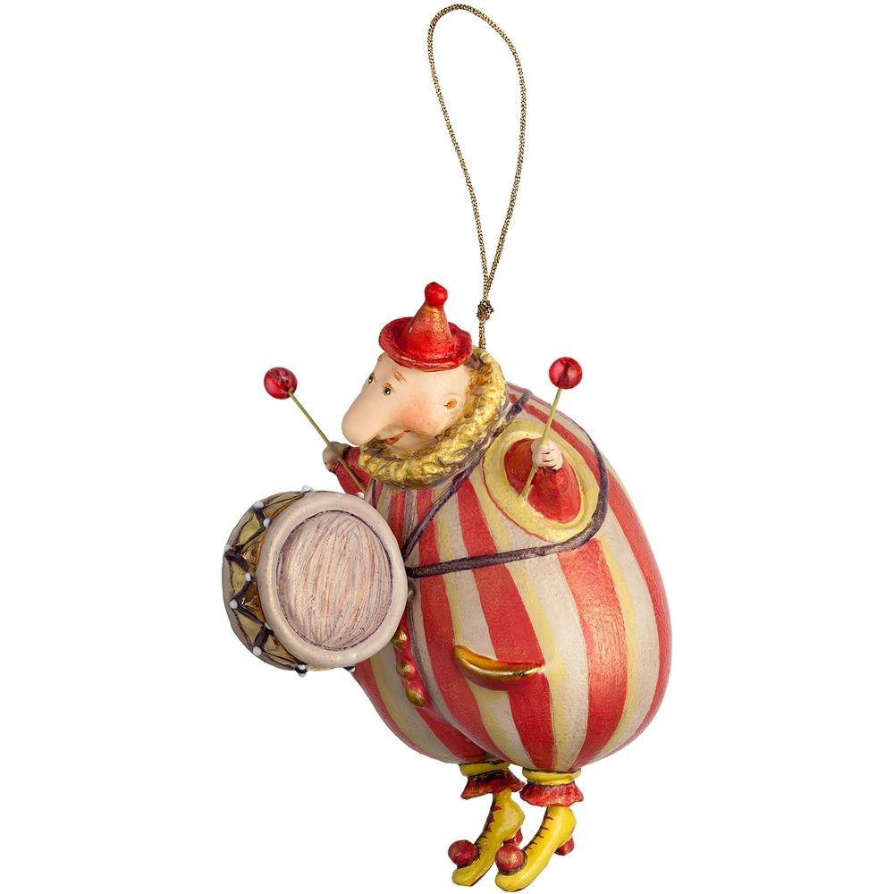 Набор из 3 елочных игрушек Circus Collection: барабанщик, акробат и слон - 5