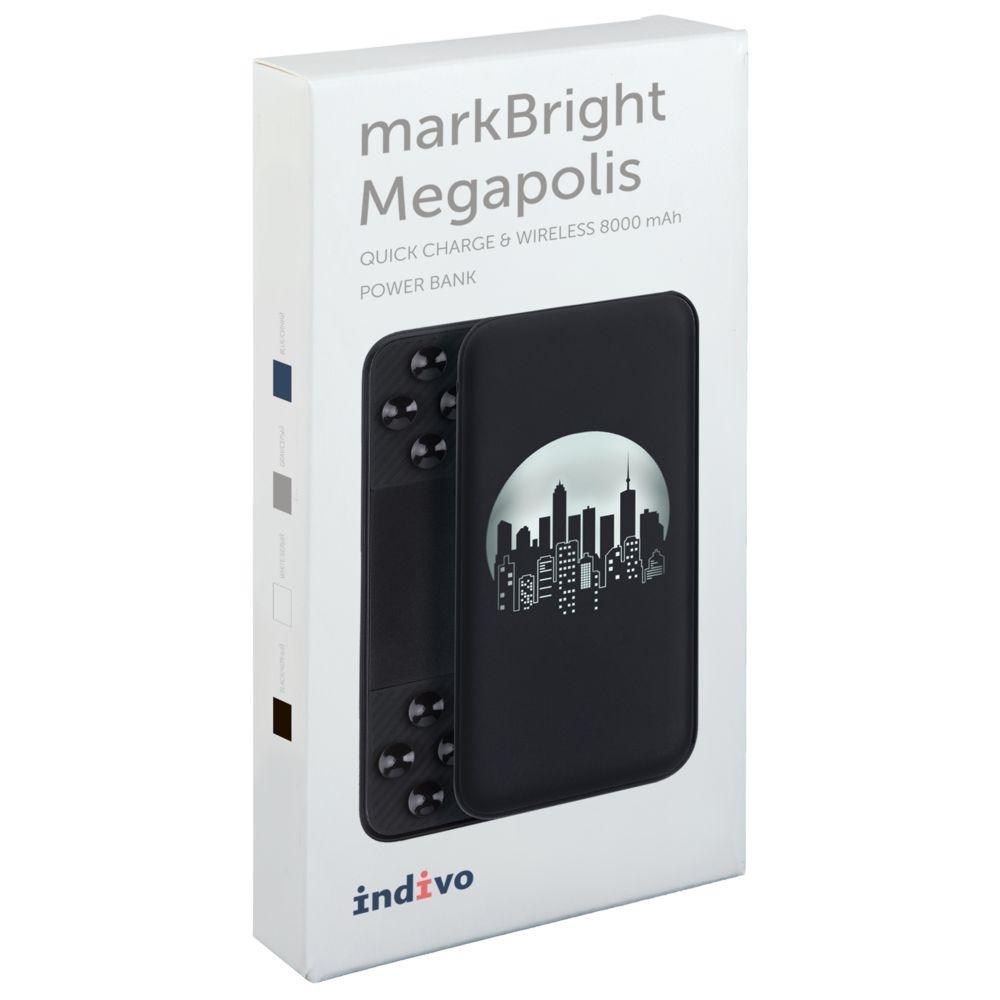 Аккумулятор с беспроводной зарядкой markBright Megapolis, 8000 мАч, черный - 9