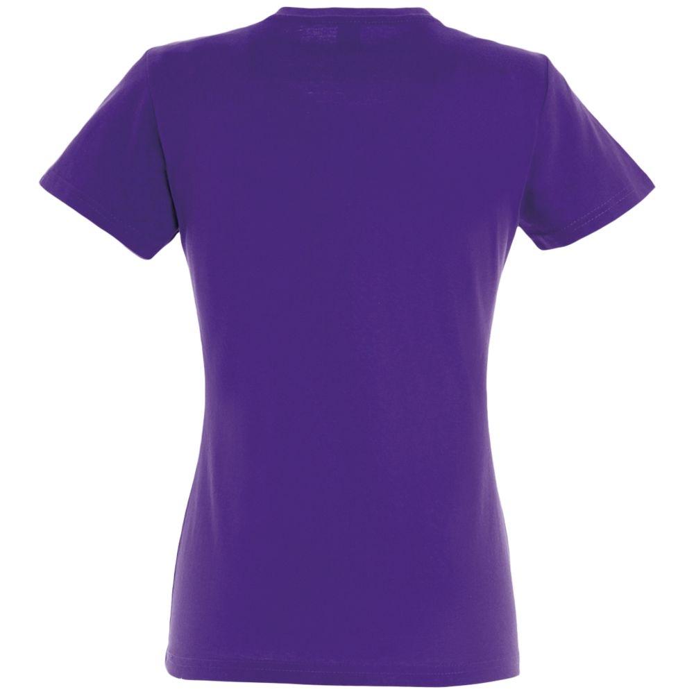 Футболка женская Imperial Women 190, темно-фиолетовая - 3