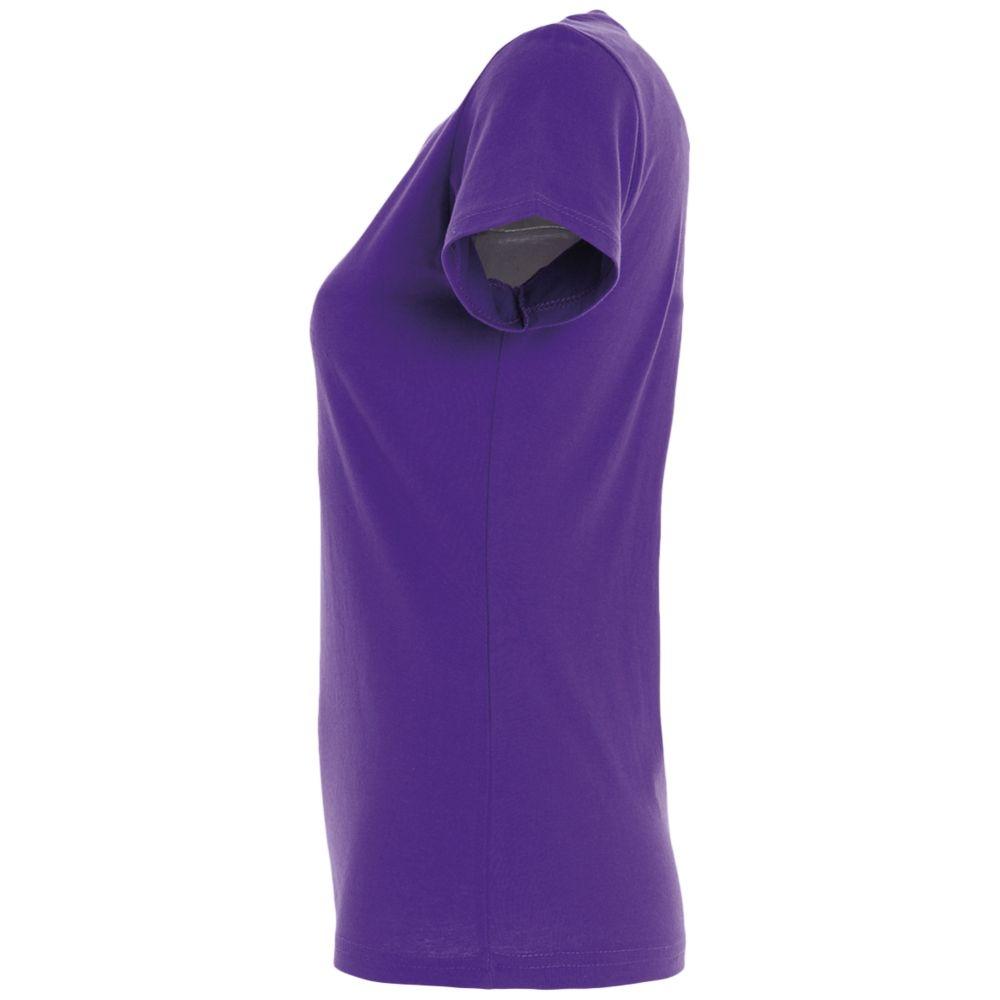 Футболка женская Imperial Women 190, темно-фиолетовая - 4