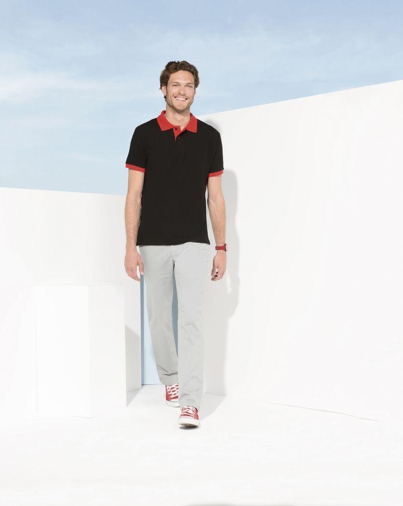 Рубашка поло Prince 190, серый меланж с розовым - 3