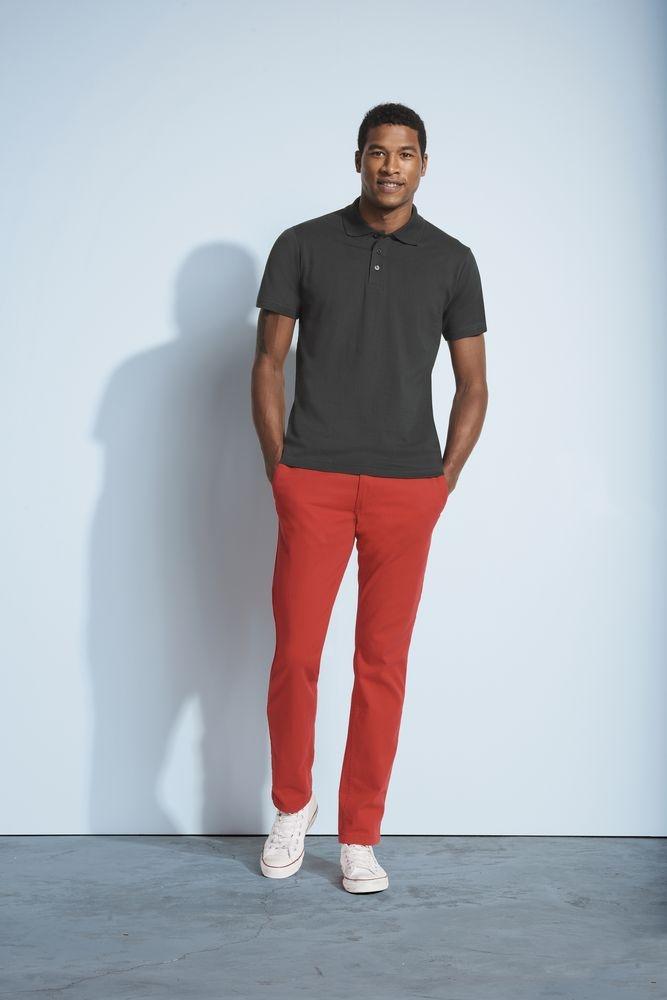 Рубашка поло мужская Prescott Men 170, темно-серая - 3