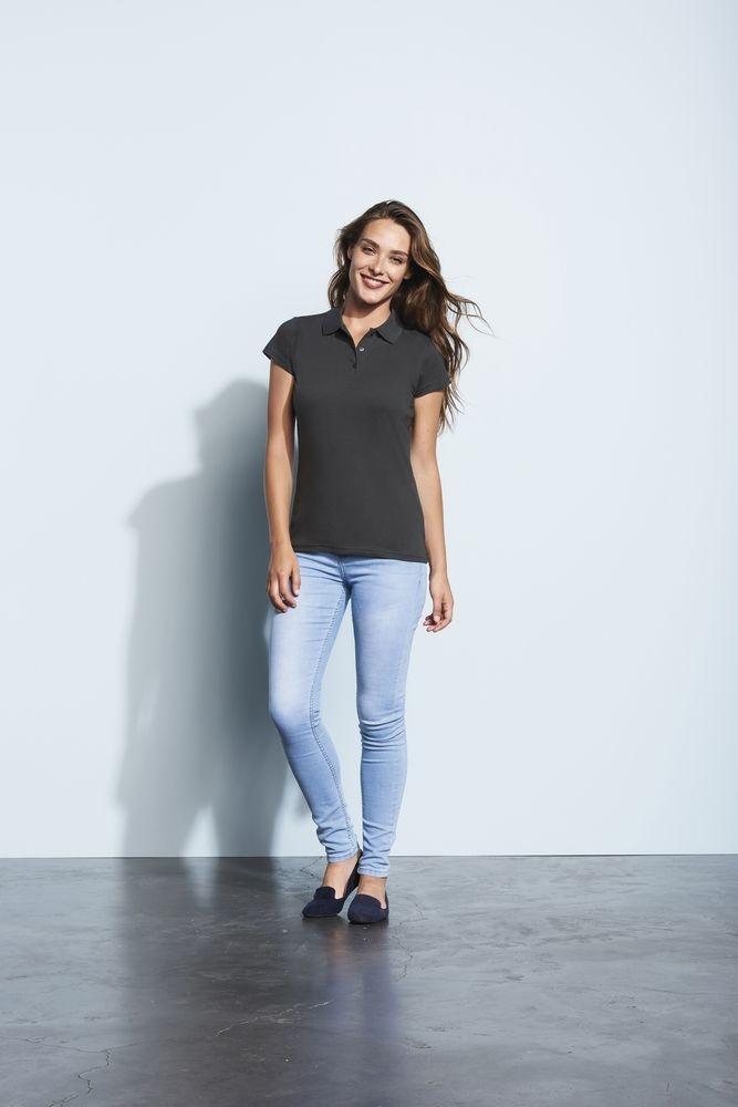 Рубашка поло женская Prescott Women 170, темно-серая - 2