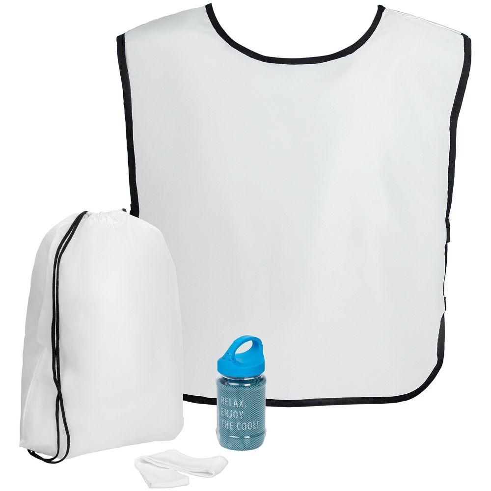 Набор для фитнеса Cool Fit, с голубым полотенцем - 1